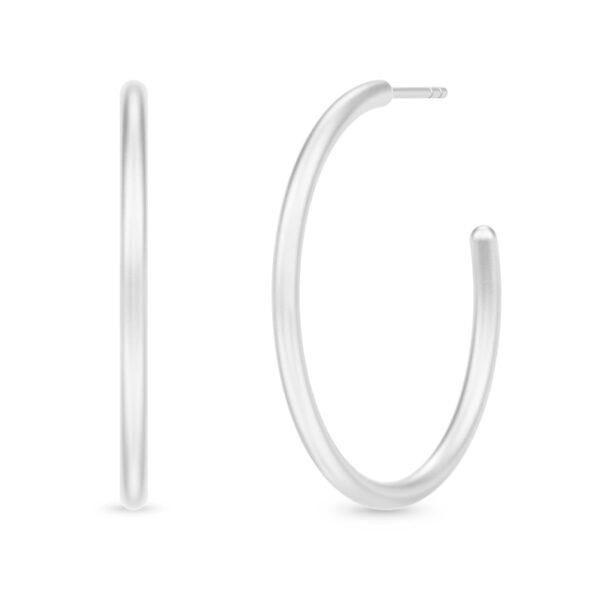 Julie Sandlau Classic hoops sølv øreringe