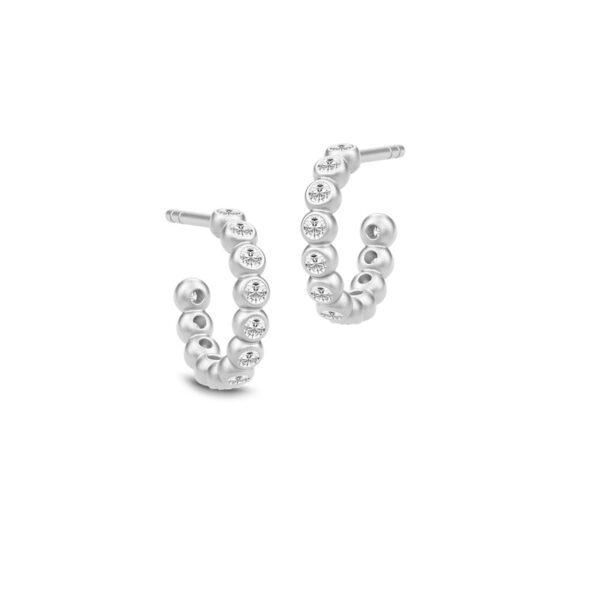 Julie Sandlau Grace mini hoops i sølv med cz