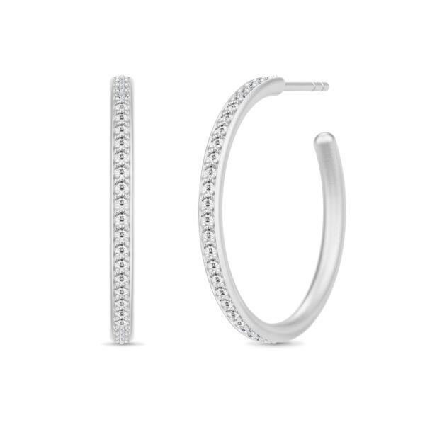 Julie Sandlau Infinity Hoops øreringe i sølv med cz