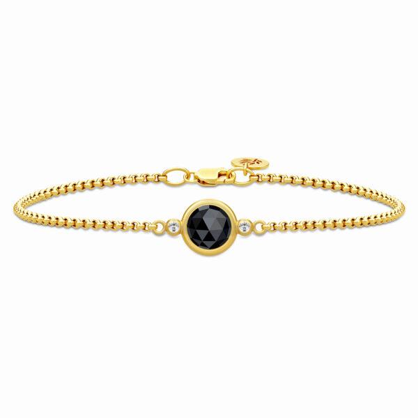Julie Sandlau Moon armbånd i forgyldt med onyx