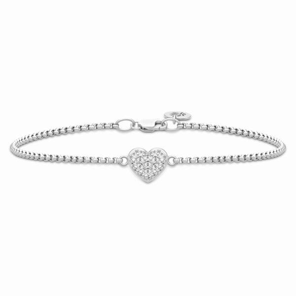 Julie Sandlau Pure Heart armbånd i sølv med cz