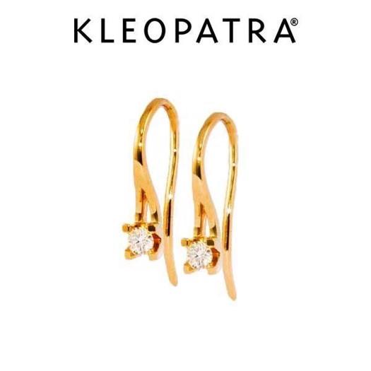 Kleopatra Ørebøjler 14 kt Guld. Brillant på 0,10ct