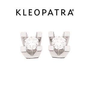 Kleopatra Ørestikker 14 kt. Hvidguld 0,10