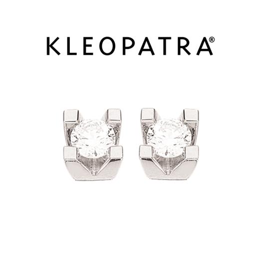 Kleopatra Ørestikker 14 kt. Hvidguld 0,15