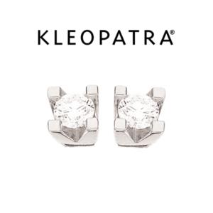 Kleopatra Ørestikker 14 kt. Hvidguld 0,20