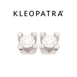 Kleopatra Ørestikker 14 kt. Hvidguld 0,30