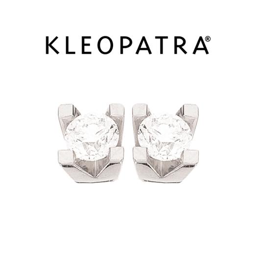 Kleopatra Ørestikker 14 kt. Hvidguld 0,40