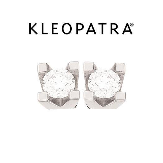 Kleopatra Ørestikker 14 kt. Hvidguld 0,50