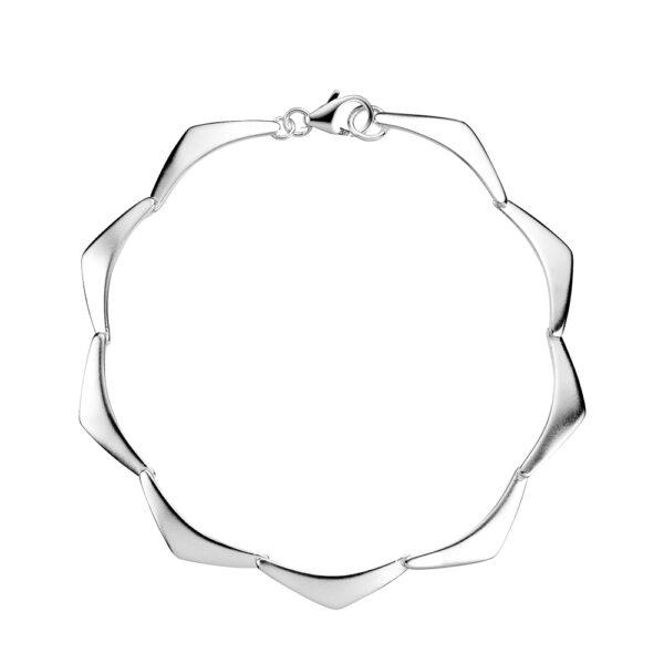 LUND Armbånd med trekanter i mat sølv