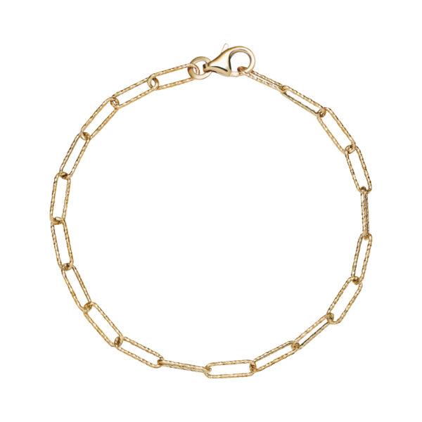 LUND Copenhagen 8 kt. guld armbånd med rustikke led
