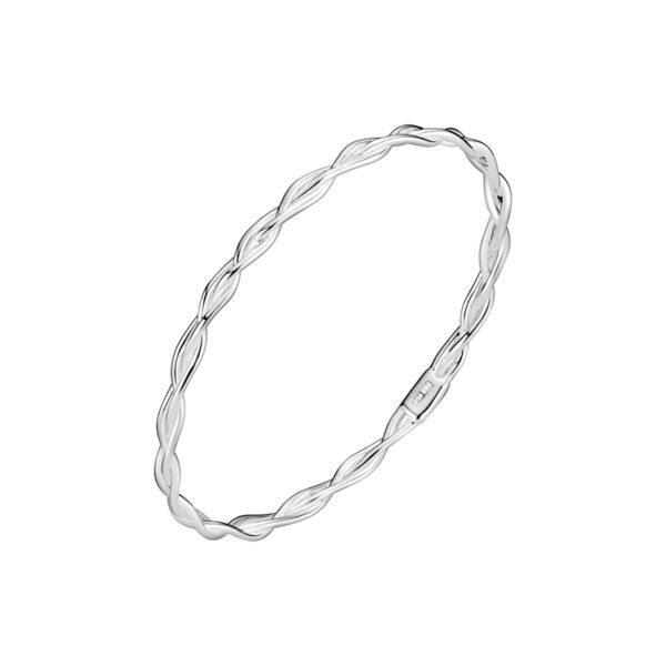 LUND Copenhagen sølv flettet armring, 4 mm