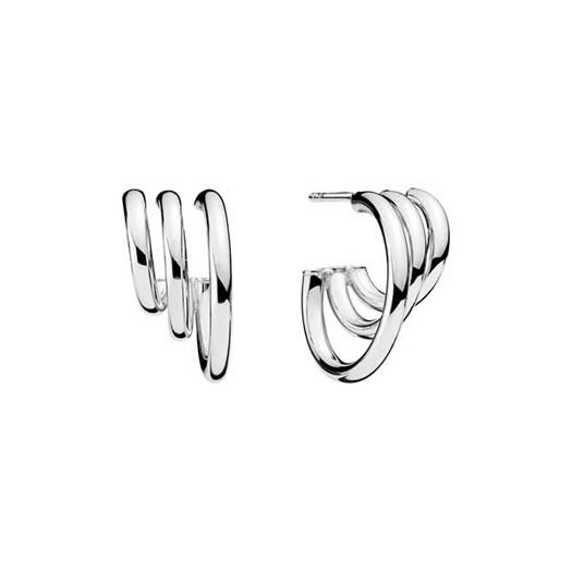 Lund Copenhagen Ørestikker med 3 ringe i sølv
