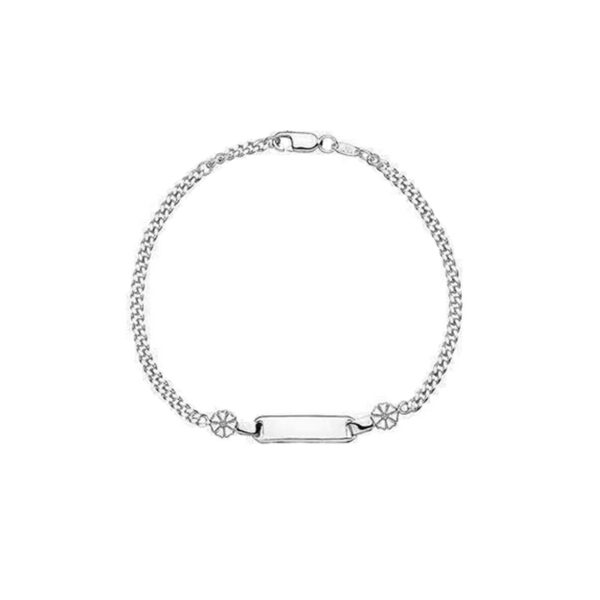 Lund Copenhagen sølv Marguerit Armbånd 2x5 mm