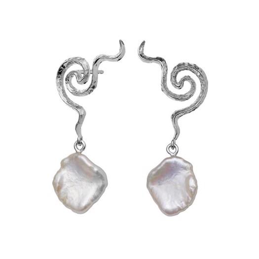 Maanesten - Aura øreringe i sølv