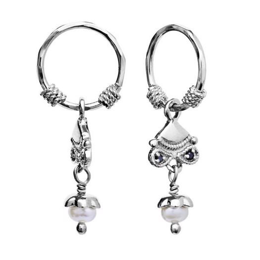 Maanesten - Malee creol i sølv med sten og perle