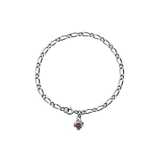 Maanesten - Nalani armbånd i sølv med pink zirkon