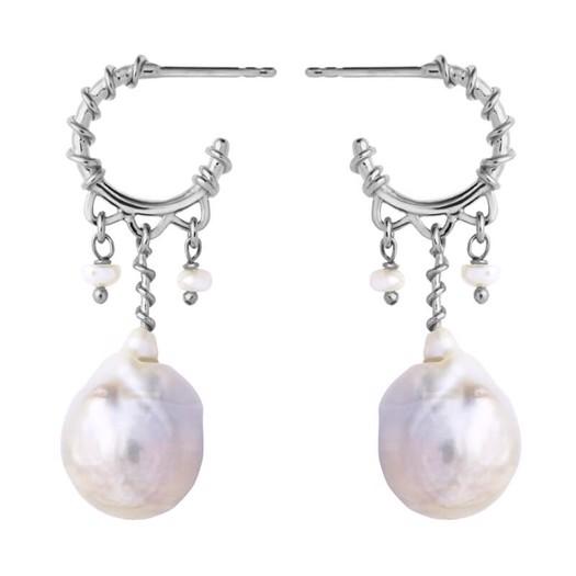 Maanesten - Nellie øreringe i sølv