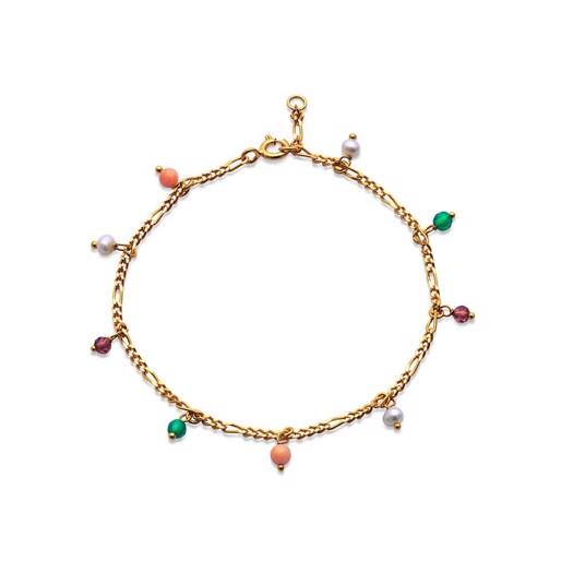 Maanesten - Salma color armbånd i forgyldt sølv