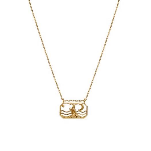 Maanesten - Zodiac halskæde med stjernetegn - Stenbukken