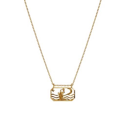 Maanesten - Zodiac halskæde med stjernetegn - Vandmanden