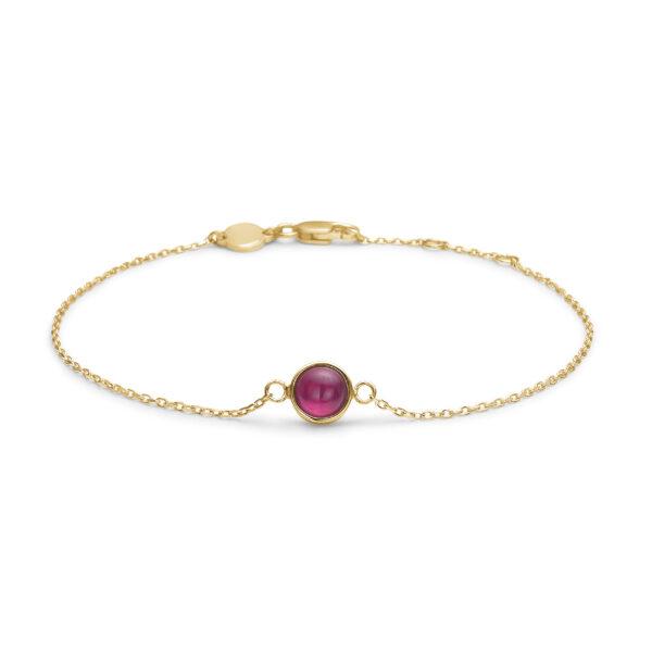 Mads Z Cabochon 14 kt. guld armbånd med rubin