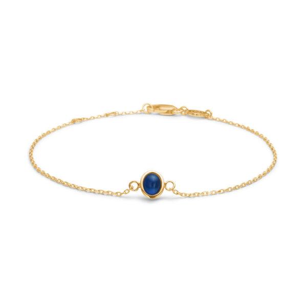 Mads Z Cabochon 14 kt. guld armbånd med safir