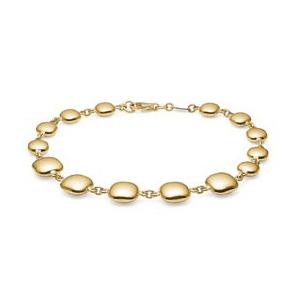 Mads Z Honey blank armbånd i 8 kt guld