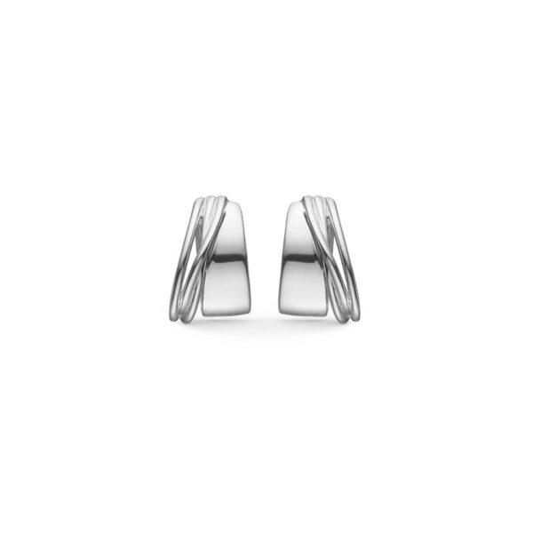 Mads Z Ribbon ørestikker i sølv