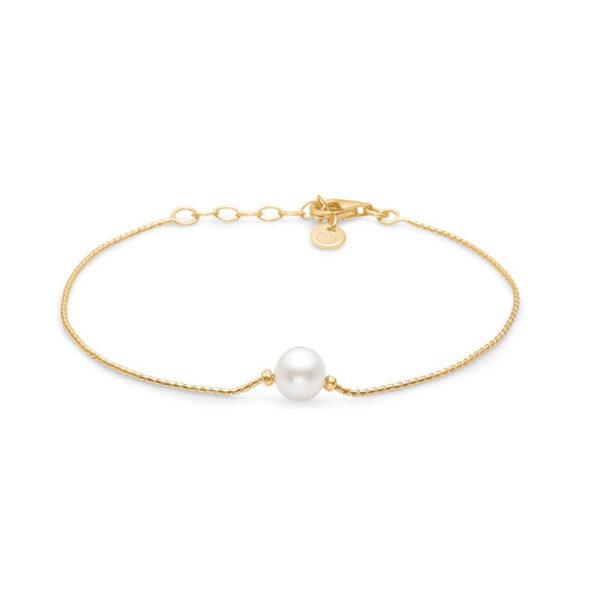 Mads Z STUDIO forgyldt armbånd med perle