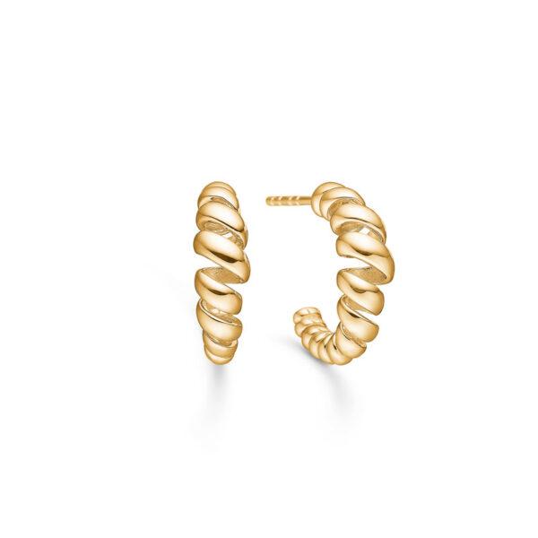 Mads Z Swirl ørestik i 14 kt guld