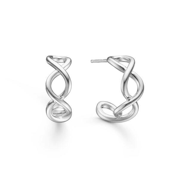 Mads Z Weave øreringe i sølv