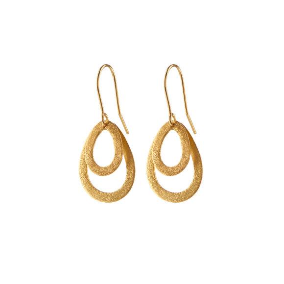 Mini Double Drop Earrings 25mm | Forgyldt Fra Pernille Corydon