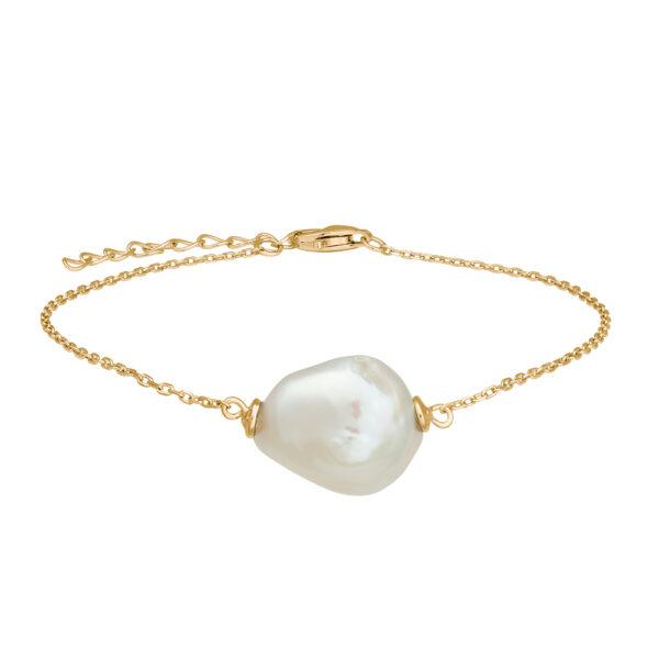 Nordahl Baroque armbånd i forgyldt med perle
