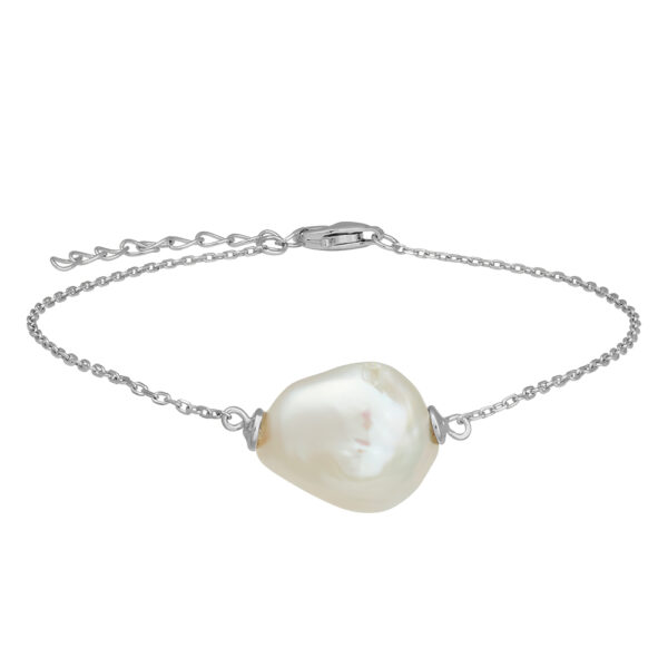 Nordahl Baroque armbånd i sølv med perle