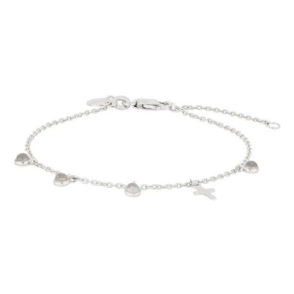 Nordahl Jewellery - CROSS52 armbånd m. kors og sten i sølv