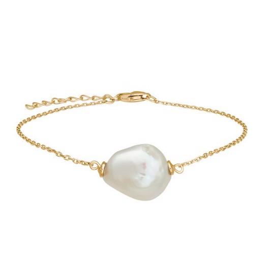 Nordahl smykker - BAROQUE52 forgyldt sølv armbånd med ferskvandsperle