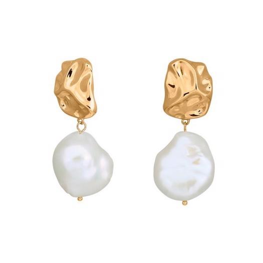 Nordahl smykker - Baroque i forgyldt sølv med perle