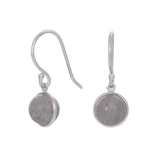 Nordahl smykker - STOR SWEETS Sølv Ørehængere med Grey Moon