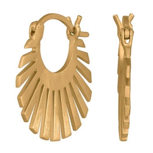 Nordahl smykker - Sun creoler i forgyldt