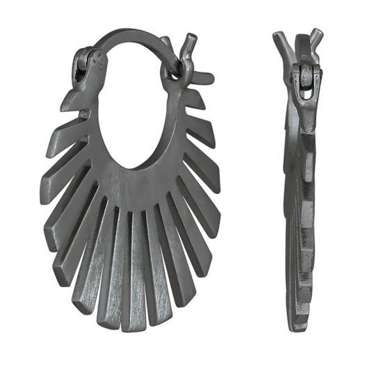 Nordahl smykker - Sun creoler i sort sølv