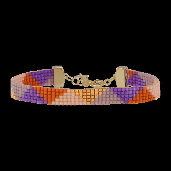 Nuni Janis armbånd - lilla/guld