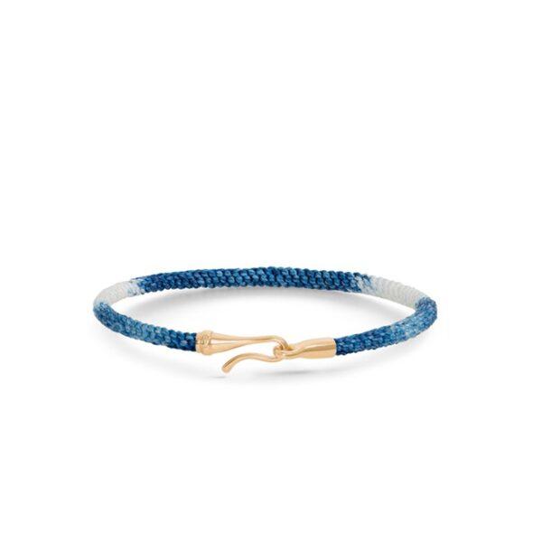 Ole Lynggaard Life armbånd - blå guld - A3040-401 Blue Jeans / 18 kt 16 cm