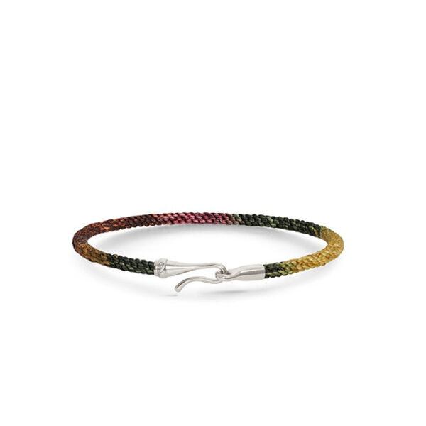 Ole Lynggaard Life armbånd i plum nylon med sølv krog