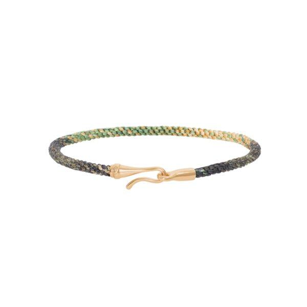 Ole Lynggaard Life armbånd i safari nylon med guld krog