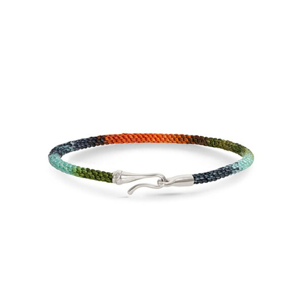 Ole Lynggaard Life armbånd i tropic nylon med sølv krog