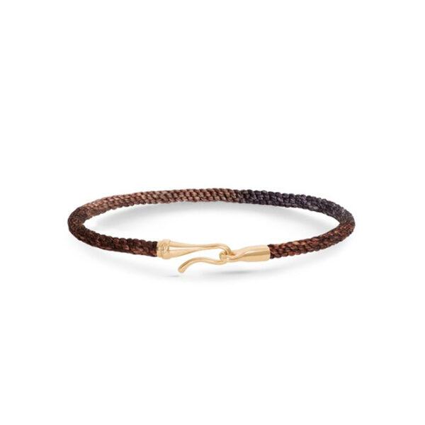 Ole Lynggaard Life armbånd i velvet nylon med guld krog