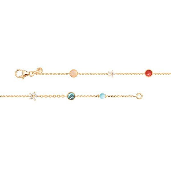 Ole Lynggaard Magic Circus armbånd med blå topaz - C0073-407 12 brill ialt 0,10 ct 18 cm