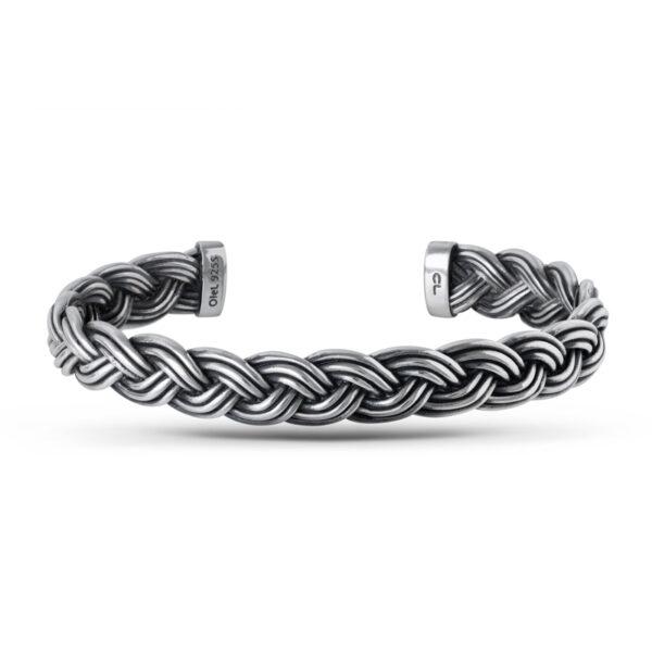 Ole Lynggaard Michel armbånd i flettet sølv