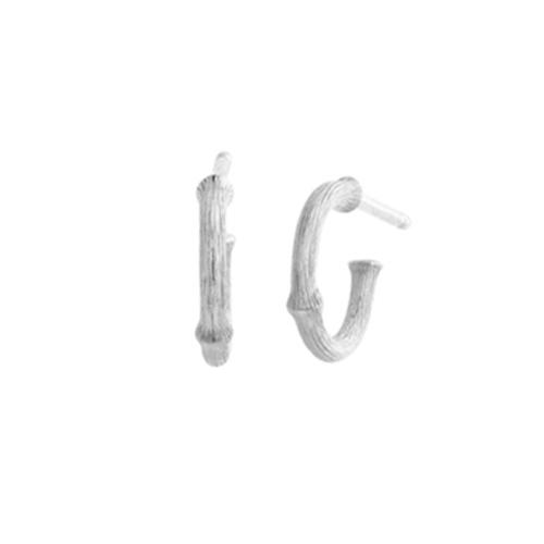 Ole Lynggaard Nature mini creol i hvidguld rhodineret Ø: 10 mm