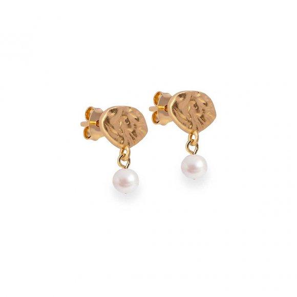 Pearl Drop Earring | Forgyldt Fra Enamel Copenhagen